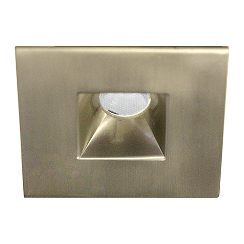 wac lighting led squareme brushed nickel led square mini recessed