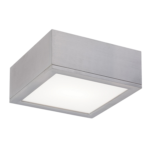 Rubix Graphite 10-Inch Energy Star LED Flush Mount with White Diffuser Glass