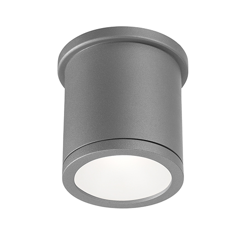 Tube Graphite 5-Inch Energy Star LED Flush Mount with White Diffuser Glass