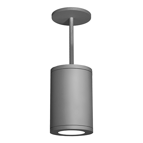 Tube Architectural  Graphite 8-Inch LED Pendant with 2700K 90 CRI 20 Beam