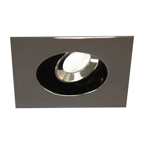 LEDme Gunmetal LED Square Mini Recessed Adjustable Light with 3500K Cool White