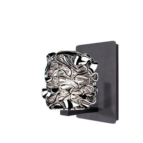 Candy Rubbed Bronze LED Wall Sconce with Silver Glass
