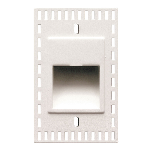 LEDme White LED Vertical Step and Wall Light with White Diffuser Lens