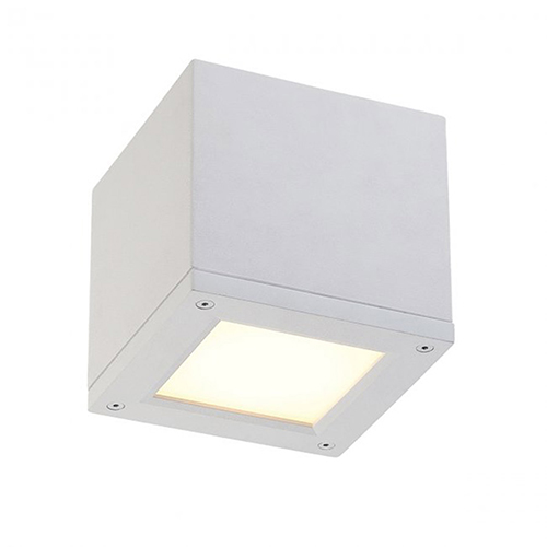 Rubix White 5-Inch Energy Star LED Flush Mount with White Diffuser Glass