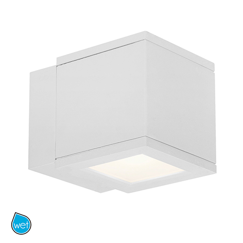 Rubix White Energy Star LED Wall Light with White Diffuser Glass