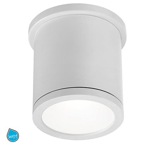 Tube White 5-Inch Energy Star LED Flush Mount with White Diffuser Glass