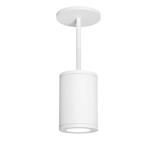 Tube Architectural  White 6-Inch LED Pendant with 2700K 85 CRI 36 Beam
