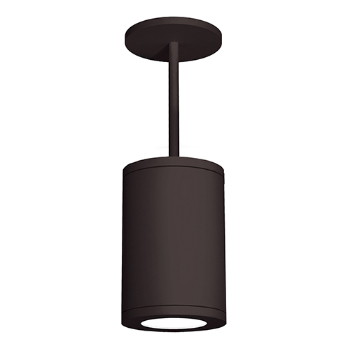 Tube Architectural  Bronze 8-Inch LED Pendant with 3500K 85 CRI 36 Beam