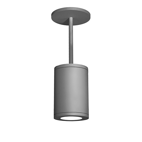 Tube Architectural  Graphite 6-Inch LED Pendant with 3000K 90 CRI 20 Beam