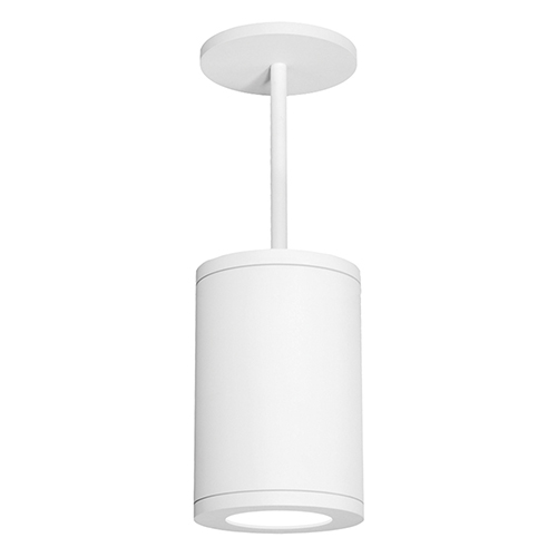 Tube Architectural  White 8-Inch LED Pendant with 3500K 85 CRI 36 Beam