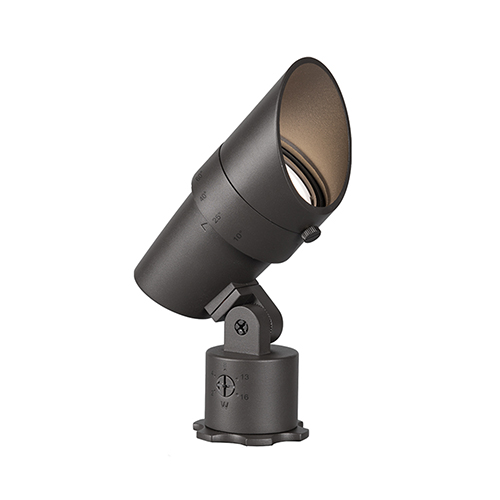 Bronze Adjustable Beam and LED Output Low Voltage Landscape Accent Light, 2700 Kelvins