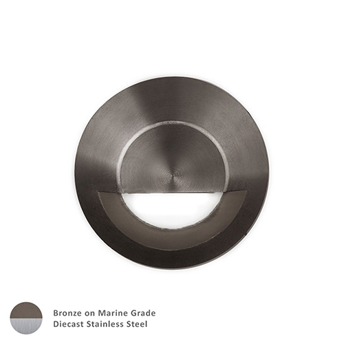 Bronzed Stainless Steel LED Circle Low Voltage Landscape Step and Wall Light