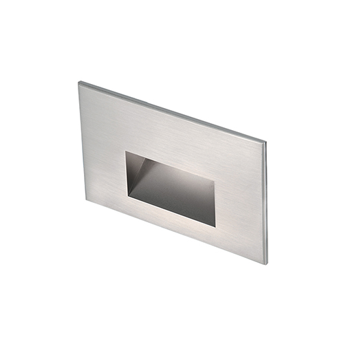 Stainless Steel LED Low Voltage Landscape Horizontal Step and Wall Light, 3000 Kelvins