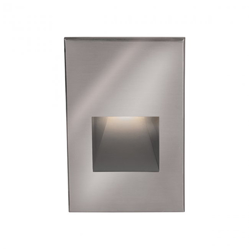 Stainless Steel LED Low Voltage Landscape Vertical Step and Wall Light, 3000 Kelvins