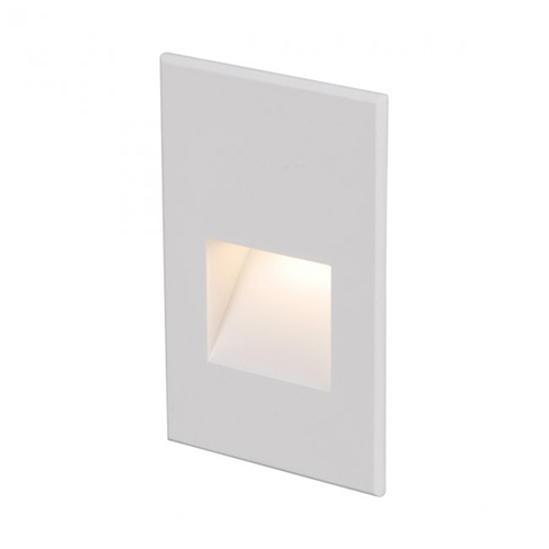 White Five-Inch LED Low Voltage Landscape Step and Wall Light, 3000 Kelvins