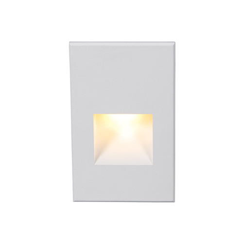 WAC Lighting White Amber LED Five-Inch Low Voltage Landscape Step and Wall Light