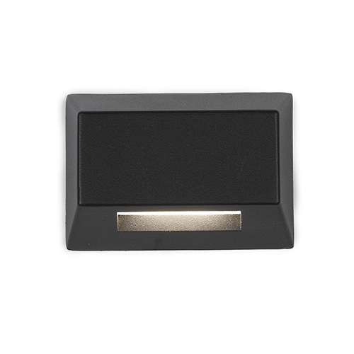 WAC Lighting Black LED Two-Inch Low Voltage Landscape Deck and Patio Light, 2700 Kelvins