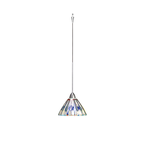 WAC Lighting Eden LED Quick Connect Brushed Nickel Mini Pendant with Dichroic Coated Shade