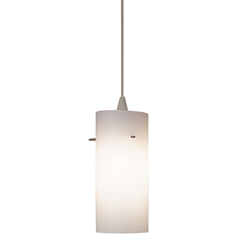 Dax H Series Brushed Nickel Mini Pendant with Cone Socket and White Shade