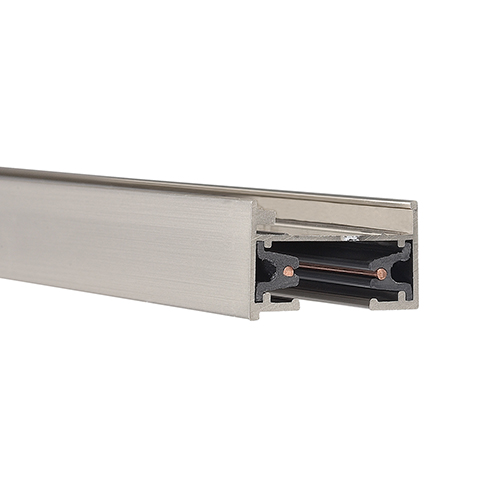 L Series 8 ft. Track with Two Endcaps - Brushed Nickel