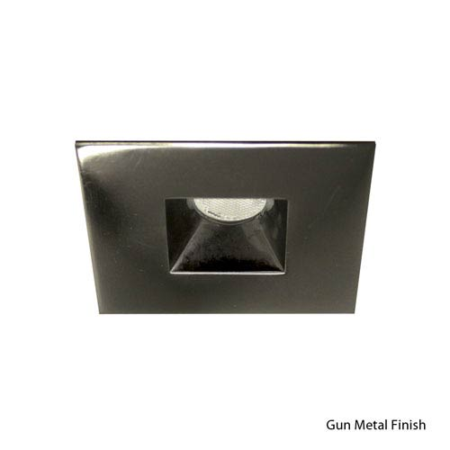 WAC Lighting LED Gun Metal 2-Inch Recessed Downlights with Open Reflector Square Trim