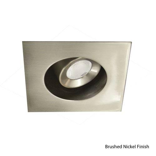 WAC Lighting LEDme Brushed Nickel Square Trim Recessed Downlight