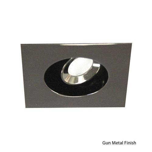 WAC Lighting LEDme Gun Metal Square Trim Recessed Downlight