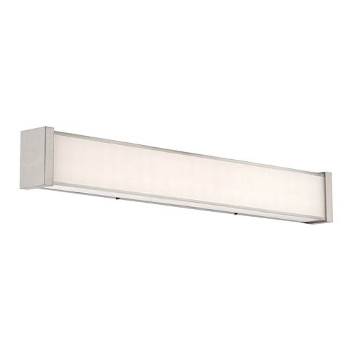 dweLED Svelte Chrome 22-Inch LED Bath Light with Thick Mitered Glass