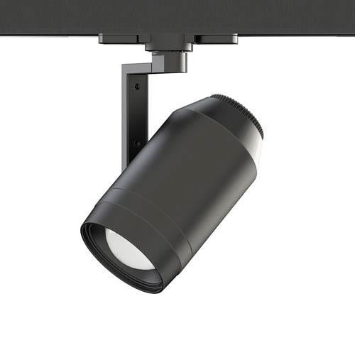 WAC Lighting Paloma Black LED W-Track Head with Adjustable Beam Angle, 120V, 3500K
