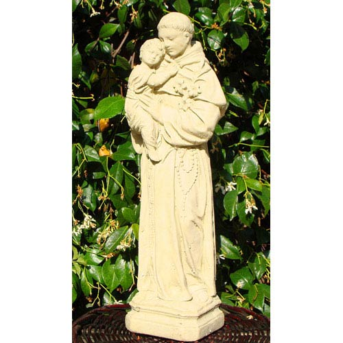 Classic Saint Anthony Cast Stone Statue