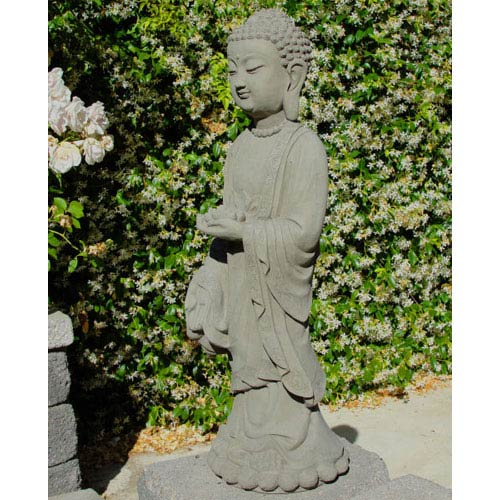 Designer Stone Antique Sakyamuni Buddha Cast Stone Statue