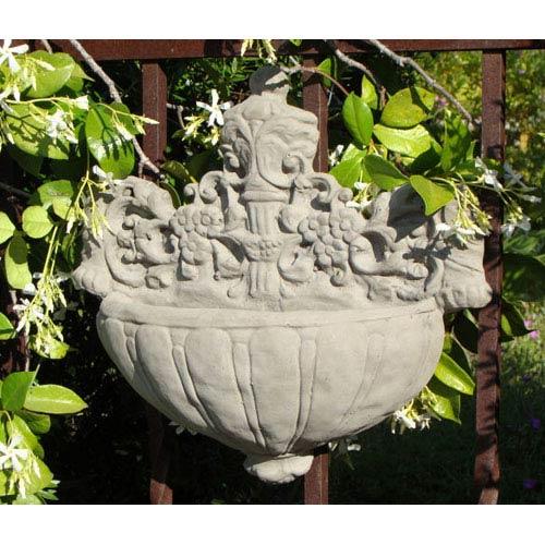 Antique Vintage Courtyard Sconce Cast Stone Statue