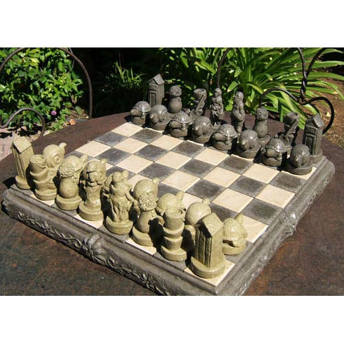 Designer Stone Gardener's Chess Set