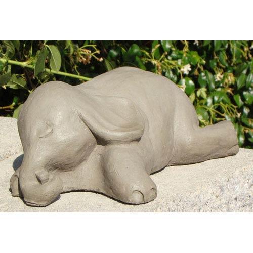 Designer Stone Antique Sleeping Elephant #2 Cast Stone Statue