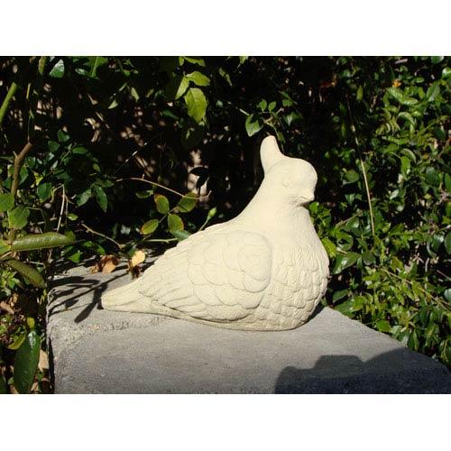 Classic Vintage Mama Quail Cast Stone Statue