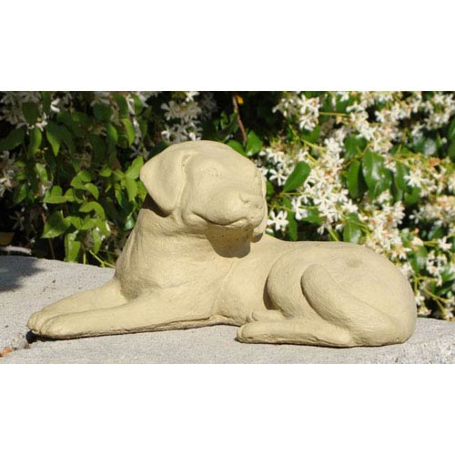 Designer Stone Old Stone Labrador Puppy Cast Stone Statue