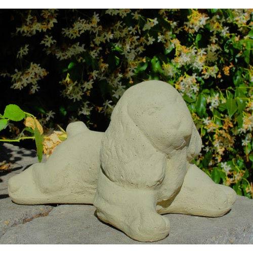 Designer Stone Classic Vintage Cocker Puppy Cast Stone Statue