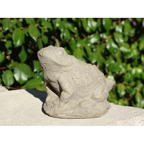 Designer Stone Antique Small Warty Toad Cast Stone Statue