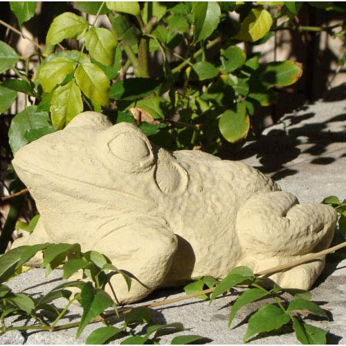 Designer Stone Old Stone Bullfrog Cast Stone Statue
