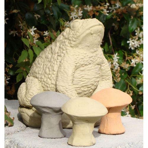 Designer Stone Old Stone Small Mushroom (Set of 3) Cast Stone Statue
