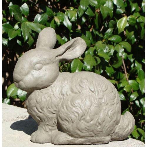 Designer Stone Antique Springtime Bunny Cast Stone Statue