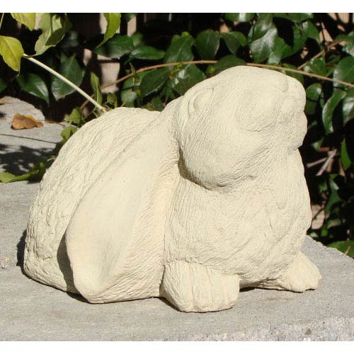 Designer Stone Classic Curious Bunny Cast Stone Statue