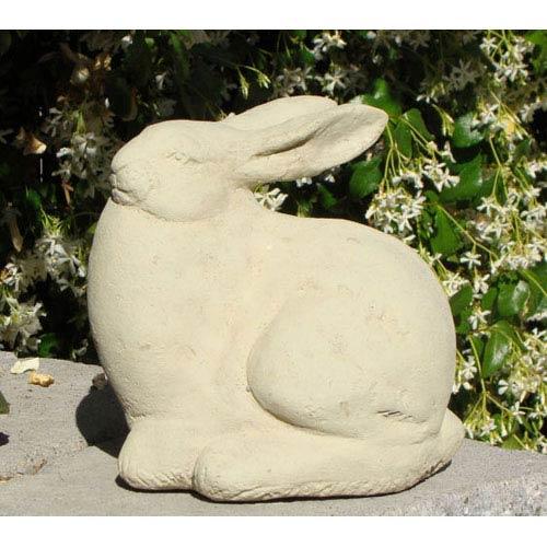 Classic Vintage Jesse Rabbit Cast Stone Statue