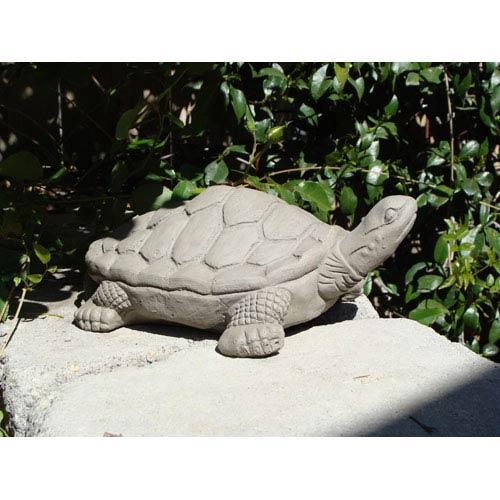 Antique Large Desert Turtle Cast Stone Statue