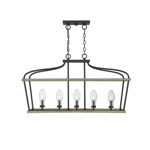 Danbury Weathervane Five-Light Outdoor Chandelier