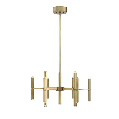 Barnum Warm Brass LED 18-Light Chandelier