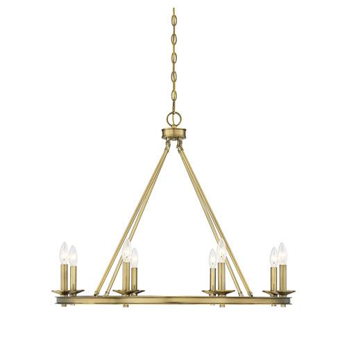 Middleton Warm Brass Eight-Light Chandelier
