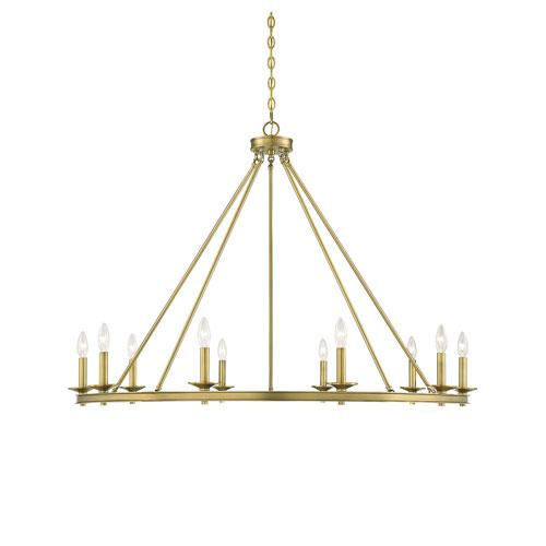 Middleton Brass 45-Inch 10-Light Chandelier