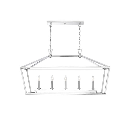 Townsend Polished Nickel Five-Light Pendant