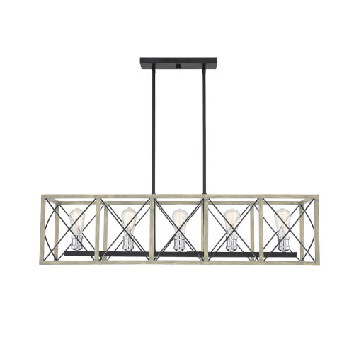 Nash Nantucket Five-Light Linear Chandelier